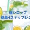 梅シロップ(梅ジュース)4ステップで作る簡単レシピ・買い逃した方のお助けアイテムあり!