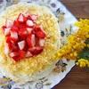 ミモザケーキとFesta della Donnaと花より団子