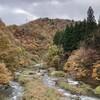 石川県小松市~白山市の山奥を移動中に大日川ダム。配布再開、ダムカード。
