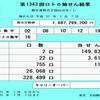 第1343回ロト6抽選結果(2019年1月7日)