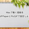 Macで動く壁紙をGIFPaperとPicGIFで設定しよう
