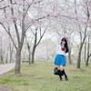 上海顾村公园の桜もそろそろ満開です。JK桜ポートレート撮影と適当レタッチ