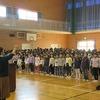 全校合唱「ふるさと」 明日の学習発表会でも歌います