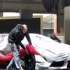 ジュネーブモーターショーの会場でトヨタレーシングコンセプトの一部が目撃