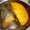 アカヤマドリをとって食べる:アカヤマドリとチキンのクリーム煮、軸の天婦羅、軸焼き