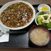 西川口の「あおき食堂」でひき肉あんかけ丼定食を食べました★