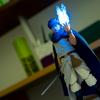 小さいLEDライトを使った炎っぽいフィギュア写真を撮りたい