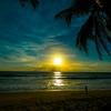 カマラビーチの夕暮れ.