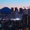 新宿副都心と富士山のコラボ