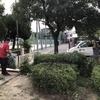 春日町公園清掃・溝清掃