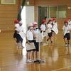 1年生:授業参観に向けて② 体育館で