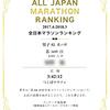 第14回全日本マラソンランキング