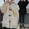 韓国ファッション レディース ボア ダッフルコート もこもこ 防寒 ハーフコート アウター