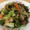 夜はシンプルに野菜炒め!野菜めっちゃ入れたけど・・・