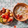 #830 鶏唐揚げとカリフラワーの甘辛弁当