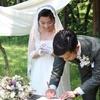 森の結婚式とシンプルなオーダーメイドの結婚指輪