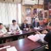 コロナ問題で飯坂町観光協会と懇談。飯坂温泉だけで2.6万件のキャンセル