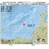 2016年10月01日 06時19分 京都府沖でM2.7の地震