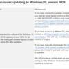 Windows10 1809が配信停止となったようです