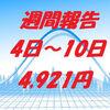 資産運用:週間報告/2月度(4日~10日)プラス4,921円でした!
