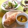 9月レッスンの豆スープと梨サラダ
