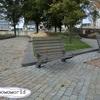ロッテルダムで背もたれが高いベンチを発見