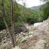ジャリガ谷から鎌尾根 堰堤に寸断された無残な谷 2011.10.02