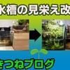 100円ショップ材料で亀水槽の水上に緑地自作