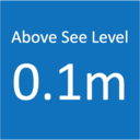 こちら海抜0.1m!