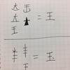 王 玉 大 太 犬  点の位置で文字が変わる