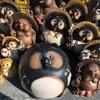 滋賀県甲賀市「信楽陶器まつり 2016」に行ってきました-信楽焼たぬきが沢山並んでいました-