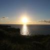沖縄 無言になるほどのきれいな夕日だった。「万座毛」