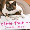 【週末英語#250】「〜以外の」という意味の「other than」には「〜に加えて」という真逆の意味もある