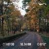『秋』の中をジョギング