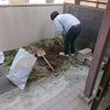 【肉体労働】庭の土を掘る
