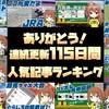 連続更新115日間の人気記事ランキング【新馬戦予想ブログ】