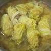 春キャベツのロールキャベツスープ