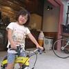娘自転車、パパはランニングで競争❗帰りは仲良くソフトクリームを食べる🍦