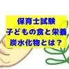 【保育士試験・子どもの食と栄養】炭水化物を説明