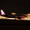 ピーチ機の離陸滑走。