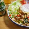自宅ガパオライス2020完成版レシピは鶏ひき肉・エリンギ・ざく切りキャベツでワンプレート
