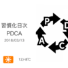来年度に向けた仕事の棚卸し[習慣化日次PDCA 2018/03/13]