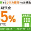 じぶん銀行が3ヶ月円定期で0.35%キャンペーン