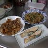 幸運な病のレシピ( 1844 )朝:もやし炒め、レンコンの牛肉きんぴら、味噌汁、マユのご飯