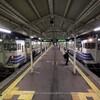 五能線キハ40,最後の秋(11):五所川原駅,1日の終わりの列車交換。