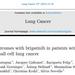 【UVEA-Brig】ALK阻害薬により既治療のALK陽性転移性非小細胞肺がんに対するブリグチニブのリアルワールドデータ