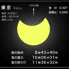 明日 6日(日)は、部分日食、安全に観察しよう!