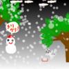 ねこと雪とクリスマス