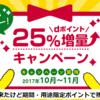 2017年10月dポイント25%増量キャンペーンは期間・用途限定ポイントに。JAL陸マイラー的には残念改悪。