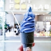 Super ice creamery @銀座 話題のギルトフリー 青いソフトクリームに挑戦